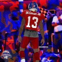 Color Rush Uniforms, Football Motivation, Stefon Diggs, Rapper Art, Odell Beckham Jr, Football Wallpaper, New York Giants, Digital Collage, New England Patriots