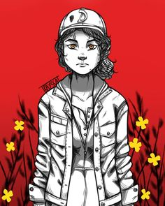 I made this one because i wanted a Clementine wallpaper for my phone. I'll put it in the stories if anyone want it too. Walking Dead Drawings, Walking Dead Gif, Walking Dead Wallpaper, The Walking Dead Telltale, Walking Dead Series, Clementine Walking Dead, Cartoon Network, Shall We Date, Life Is Strange