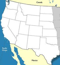 FREE US Northeast Region States Capitals Maps Flashcards - West region states and capitals