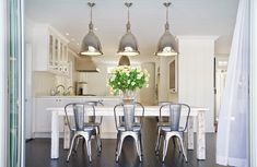 Amazing, LOVE the lights, can never go wrong with a white kitchen