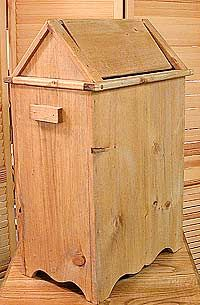 Wooden Wood Garbage Cans For The Country Rustic Kitchen