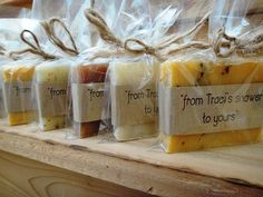 Bridal Shower Favors - Organic Favors - Natural Soap