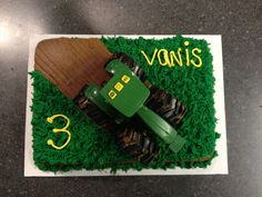 John Deere cake for my son's 3rd birthday