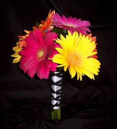 gerber daisy bouquet for weddings | Bridemaid's Bouquet with Gerbera Daisies | Blossom Basket Blog