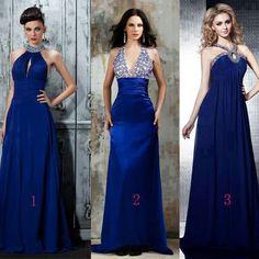 Vestidos color azul rey para damas