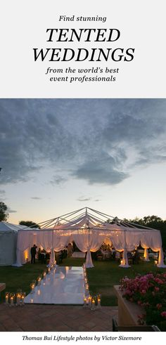 Find spectacular outdoor and tented wedding ideas from top event pros