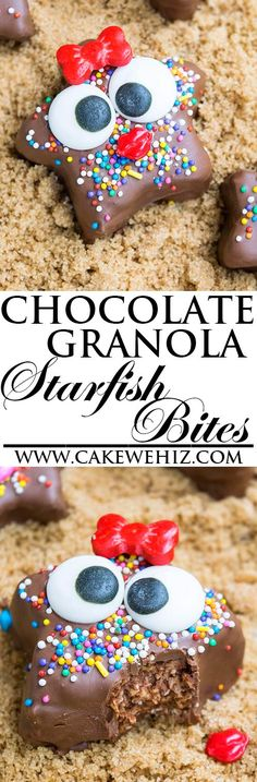 Learn to make fun and easy CHOCOLATE GRANOLA STARFISH. These cute granola bites…