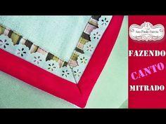 Canto Mitrado Fácil - Fazendo uma Fraldinha de bebê - YouTube American Rag, Patches, Make It Yourself, Quilts, Youtube, Videos, How To Make, Towel Crafts, Craft Ideas