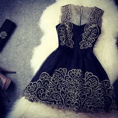 How cute the lace on this dress