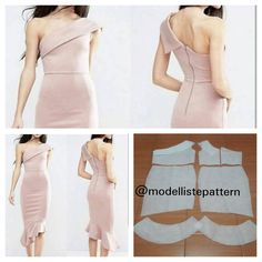 One shoulder dress pattern . Modelliste Pattern (with .… - - One shoulder dress pattern . Modelliste Pattern (with .… One Shoulder Dress Models Ready for some out of this world dreaminess? Trendy Dresses, Modest Dresses, Nice Dresses, Casual Dresses, Short Dresses, Dress Sewing Patterns, Clothing Patterns, Pattern Dress, One Shoulder Dress Long