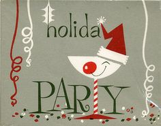 Vintage Holiday Party Invite