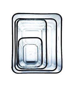 Rectangular Glass Storage from The Container Store, $5-$10