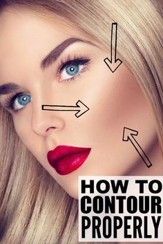 This collection of tutorials will teach you how to contour your face PROPERLY so you can fool the world into thinking your face is thinner than it really is. Make sure to watch tutorial to learn how to contour and highlight in only one minute! Makeup Contouring, Contouring And Highlighting, Best Contour Makeup, Eyeliner Makeup, Face Contouring Products, Contouring Round Face, How To Blend Contouring, Contouring Guide, Makeup Trends