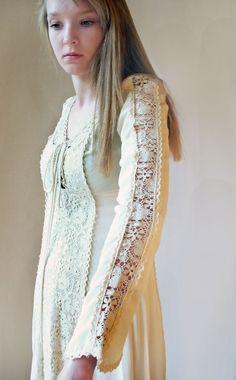 Vtg 70s GUNNE SAX JESSICA McCLINTOCK Boho Festival LACED Bodice WEDDING Dress $249.00