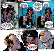 Kamala Khan and Coulson S. - loved this scene Captain Marvel, Marvel Dc, Marvel Comics, Ms Marvel Kamala Khan, Marvel Tumblr, Phil Coulson, Disney Princes, Marvel Girls, Marvel Funny