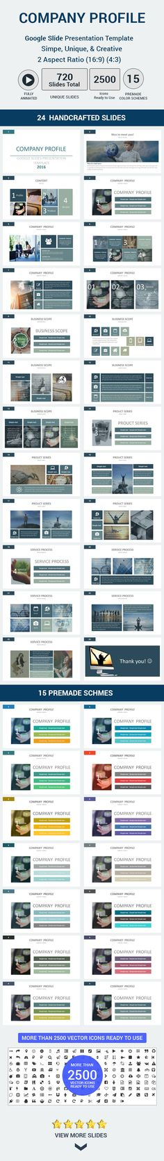 Company profile Google Slides Presentation Template. Download here: http://graphicriver.net/item/company-profile-google-slides-presentation-template/16455906?ref=ksioks