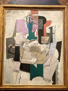 Pablo Picasso, Bowl of Fruit, Violin & Bottle  on ArtStack #pablo-picasso #art