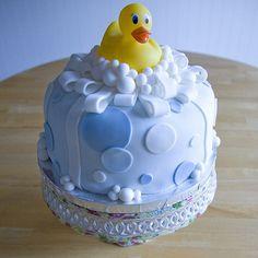 Duck bath cake