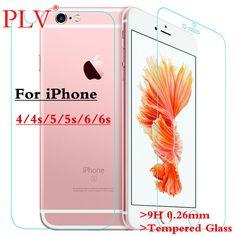 2 Pcs 0.26mm Pour iPhone 6 Verre Trempé Rrotective Film Devant Dos trempé Écran En Verre Pour iPhone 4 4s 5 5s 6 Plus protecteur