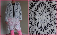 How to Crochet a Jacket using hexagon motifs - Part 1