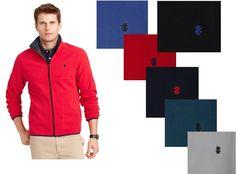 Izod Fleece Jacket zip front long sleeves polyester men's size S, L, XL, XXL NEW #Izod #FleeceJacket