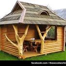 Get inspired with our gazebo ideas to enhance your backyard and create your dream home. Includes design ideas, pictures and more. Outdoor Projects, Wood Projects, Woodworking Projects, Woodworking Plans, Japanese Woodworking, Woodworking Furniture, Outdoor Rooms, Outdoor Living, Backyard Cottage