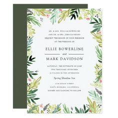 Meadow Wedding Invitation
