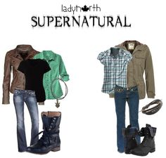 Supernatural outfits by LadyNorth, Female versions of Sam and Dean Winchester