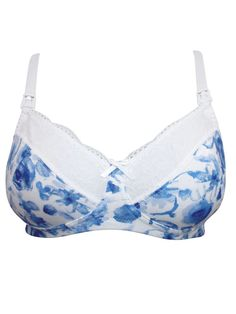 3c398dc4813 Blooming Marvellous BLUE Floral Maternity Nursing Bra - Size 38B  fashion   clothing  shoes
