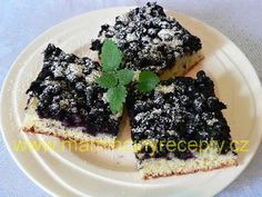 Rychlý borůvkový koláč Czech Desserts, Food, Bakken, Essen, Meals, Yemek, Eten