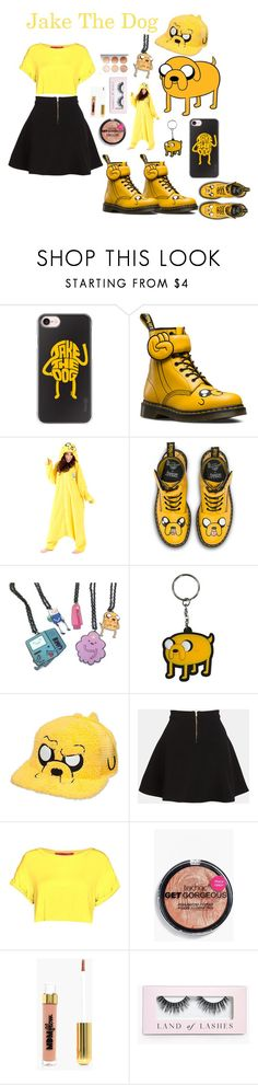 """Jake The Dog"" by bitty-junkkitty ❤ liked on Polyvore featuring Casetify, Dr. Martens, Parker and Boohoo"