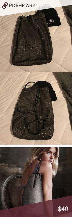 Glittery Victoria's Secret Glitter Drawstring Bag. 😍 Never used, sparkly Victoria's secret  drawstring bag. So cute! Victoria's Secret Bags