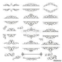 Vector: Swirls Vintage Design Elements .