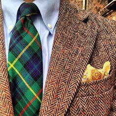 tartan.  tweed.