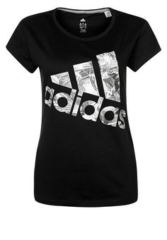 adidas Performance - COOLER - T-Shirt print - black
