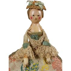 15 1/2 overall, is a Georgian Wooden in a desirable cabinet size - one who is small enough to reside in an early dollhouse or vignette, but large