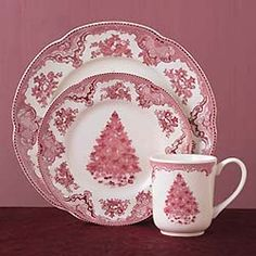Johnson Brothers Old Britain Castles Pink Christmas Dinnerware