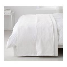 IKEA - INDIRA, Tagesdecke, 250x250 cm, , Mit diesem gewebten Überwurf wird das Bett zum dekorativen Mittelpunkt im Raum; gleichzeitig sorgt er für Wärme und Bequemlichkeit.