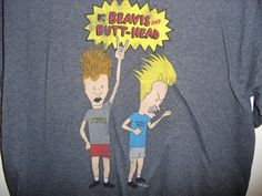 Beavis & Butt-head MTV T-Shirt Mens Size L Retro Grey Fifth Sun #FifthSun #GraphicTee