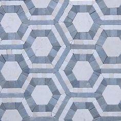 Cosmos Carrera and Moonstone Hexagon Marble Tile_main $28