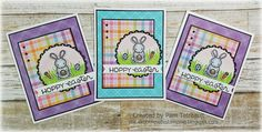 """airbornewife's stamping spot: #thedailymarker30day Day 2 """"HOPPY EASTER"""" card using Lawn Fawn stamps/dies"""