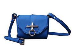 Gucci Snaffle Bit Medium Shoulder Bag G9989 Blue - $199.00