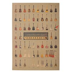 1 Pcs Guitar World Vintage Poster Vintage Wallpaper Wall Stickers Home Decor on Aliexpress.com | Alibaba Group