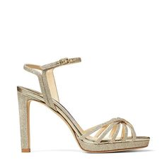Jimmy Choo Lilah 100 Platinum-ice Dusty Glitter Platform Sandals In Platinum Ice Jimmy Choo Romy, Jimmy Choo Shoes, Designer Wedding Shoes, Bridal Heels, Bride Accessories, Bride Shoes, Sandals For Sale, Ankle Straps, Vintage Style Outfits
