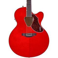 Gretsch Guitars G5022CE Rancher Jumbo Cutaway Acoustic-Electric Guitar Western Orange Stain Rosewood Fretboard