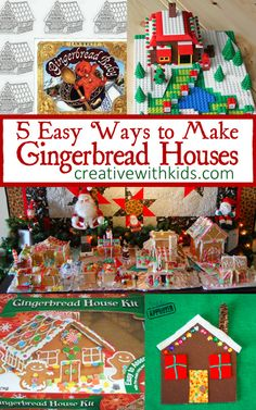 5 Easy Gingerbread Houses to make with kids. These are such a fun Christmas tradition.