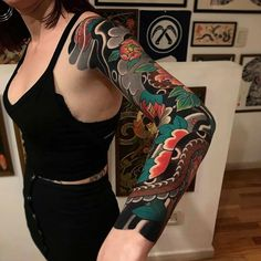 10 Cool Japanese Sleeve Tattoos For Ideas Irezumi Tattoos, Tribal Tattoos, Asian Tattoos, Body Art Tattoos, Arm Tattoos, Arabic Tattoos, Polynesian Tattoos, Geometric Tattoos, Japanese Dragon Tattoos