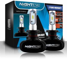 Les ampoules de voiture Nighteye H1, H4 et H7 Led Cob, Hid Headlights, Car Lights, Drip Coffee Maker, Light Bulb, Stuff To Buy, Free, Products, Cooling System