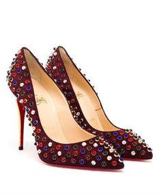CHRISTIAN LOUBOUTIN - Studded Folliescabo High Heel