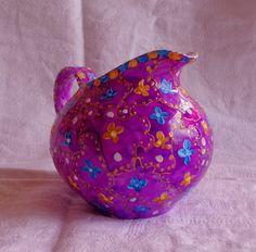 Pot-au-Lait Bohème en Porcelaine, violet, jaune, bleu : Objet Déco Bohème : Accessoires de maison par indiana-joss